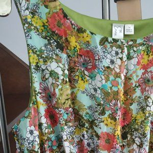 🌼Emma & Michelle Floral Casual sleeveless dress